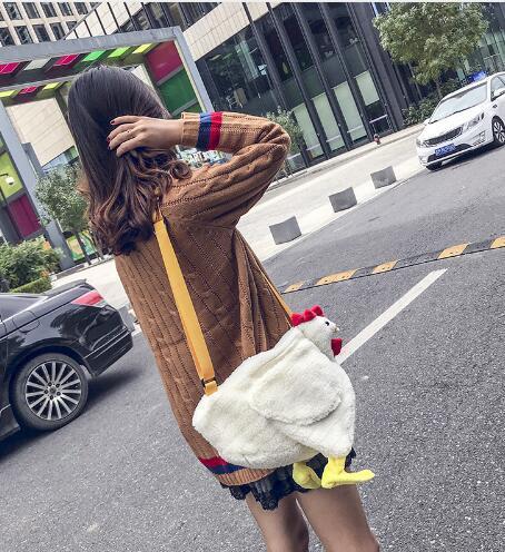 Plush Women Bag Cartoon Women Shoulder Bags Teen Crossbody Bag Funny Mini Messenger Bag New Handbags Bolsos Mujer