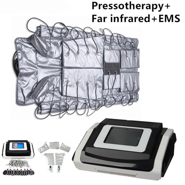 Cobertura térmica infravermelha distante do envoltório do corpo da cobertura térmica do corpo da máquina da drenagem linfática de Pressotherapy com estimulação elétrica do músculo do EMS