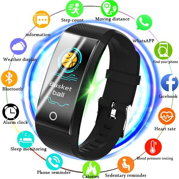 Bangwei Fitness Smart Men Women Pedometer Heart Rate Monitor Waterproof Ip67 Running Sport Watch For Android Ios C19041001