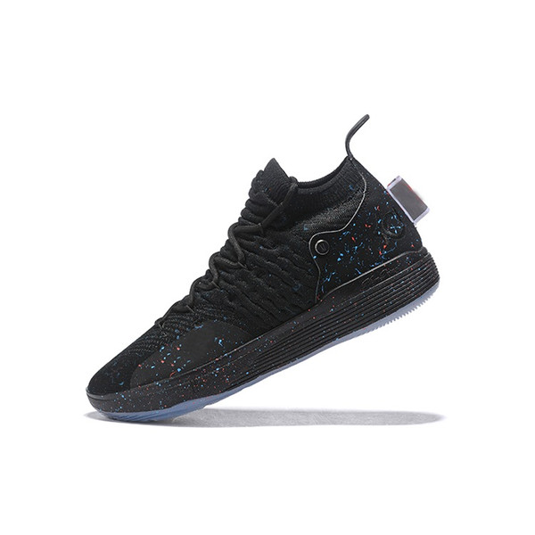 Cheap kd 11 men basketball shoes kds MVP Galaxy Blacks Christmas Pink Aunt Pearl kids Kevin Durant xi sneakers tennis with box Size 7 12
