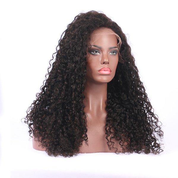 Curly Full Lace Human Hair Wigs With Baby Hair Glueless Full Lace Wigs Pre Plucked Bleached Knots Brazilian Remy Hair