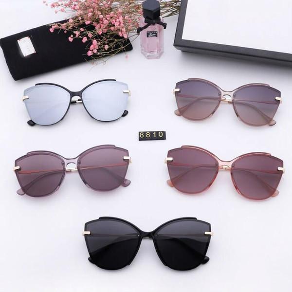 Diseñador de damas marca cc gafas de sol polarizadas gafas de sol polaroid hd diseño de panel plano tendencia de moda 5 colores para elegir