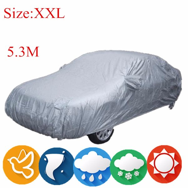 best selling M L XL XXL Universal Full Car Cover Anti Rain Snow Ice Waterproof Dustproof UV Outdoor