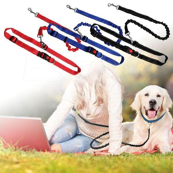 Running Jogging Puppy Dogs Lead Collar Elastic Adjustable Sports Pet Walking Leash Hands Free Dog Leashes Waist Pet Dog Leash BH0467 TQQ