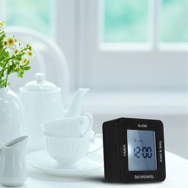 Multifuncional Digital Alarm Clock Large-Screen Moderno Com Backlight Desk Início mesa giratória Clock Timer para o cozinheiro Yoga