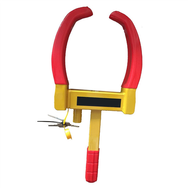 Wheel Lock For Vehicles Scooters/Motocycles/Cars/Trucks Car Tire Lock Clip Vise With 9 Holes Red And Yellow Color #225798
