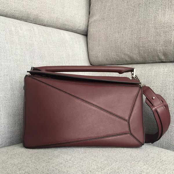 Designer Bag Lady Luxury Handbag Women Bags Purses Loe Cow Genuine Leather Multi-color Geometric Women Shoulder Totes Crossbdy