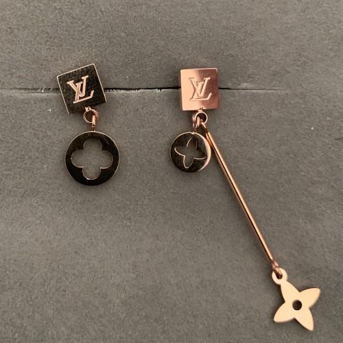 Nueva famosa marca de diseñador de acero inoxidable flor Stud Earrings Letter Ear Stud accesorios de joyería para mujer niña regalo de boda envío gratis