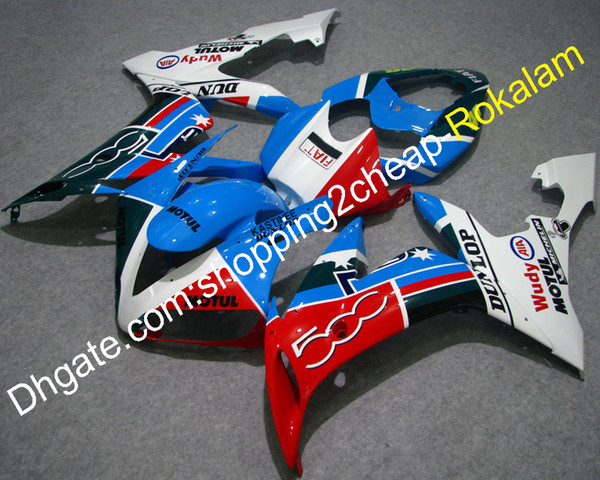 YZF 1000 R1 Fashion Fairing For Yamaha Body Parts YZF1000 2004 2005 2006 YZFR1 FIAT Fairings Motorcycle Fit (Injection molding)