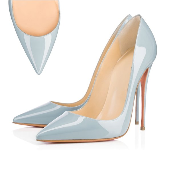 11 Pointed Toe leather light blue