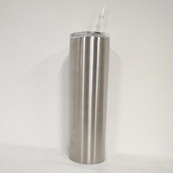 DHL 30 Unze Edelstahl Skinny Tumbler Doppelwand Vakuum Isolierflaschen Gerade Tassen Becher Mit Stroh und Deckel Für Bier Tee Coffe