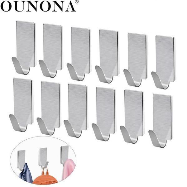 wholesale Stainless Steel Hooks Hanger Self Adhesive Heavy Duty Coat Hanger Robe Towel Hook for Bathroom Kitchen Wall