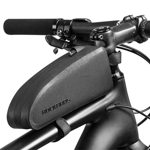 ROCKBROS Bike Bicycle Handlebar Bag Front Frame Bag Pannier Black Gold
