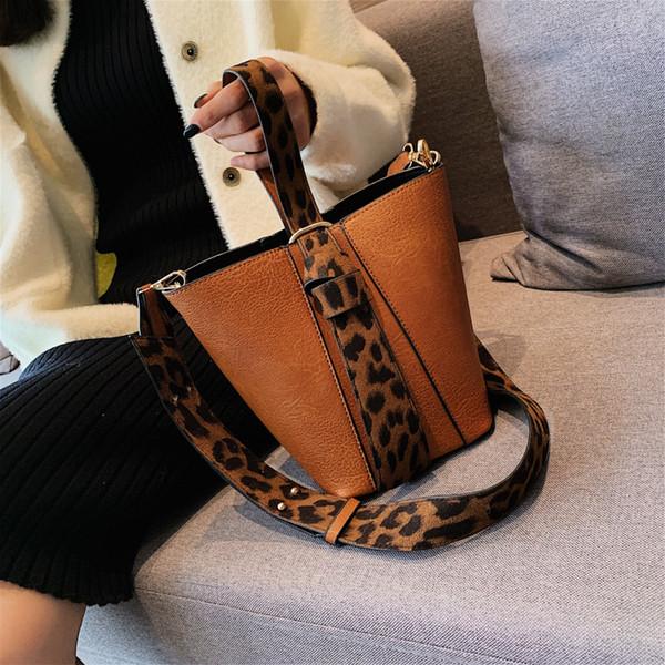2018 Leder Damen Top-Griff Handtaschen Taschen für Frauen Luxus Handtaschen Damentaschen Designer Marke Original Design Leopard Print