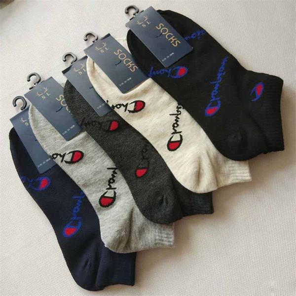 Erkekler Ve Kadınlar Ev Tekne Çorap Şampiyonu Sığ Ağız Ayak Bileği Çorap Çok Renkler Bahar Ve Yaz 1 4hy