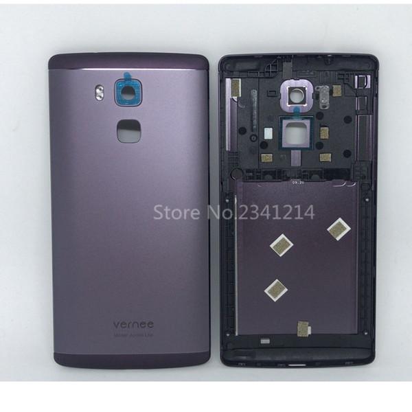 Novo para vernee apollo lite 5.5 polegadas celular substituir caixas de bateria de volta case brown silver substituir