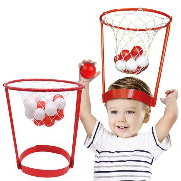 Outdoor Overhead Basketball Safety Puzzle Parent-child Sports Early Education Kit(including 20pcs balls) Toys Red