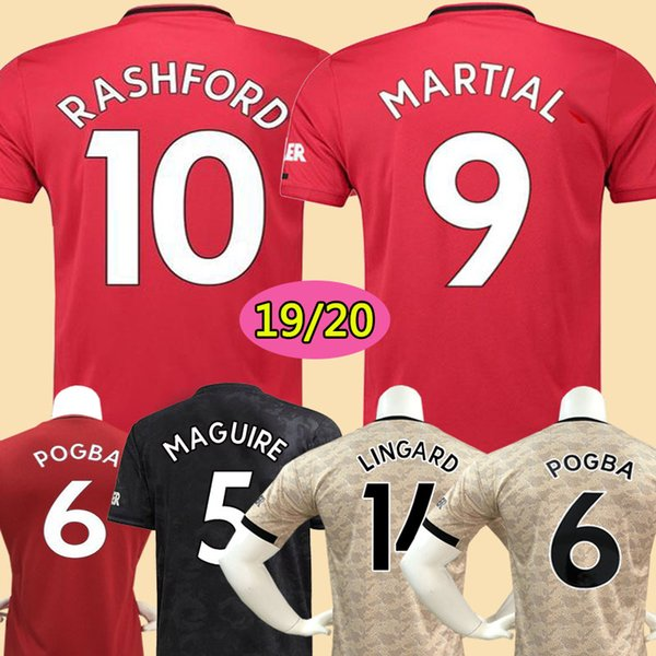 top popular Thailand FC manchester POGBA soccer jersey 2019 2020 LINGARD RASHFORD football shirt united UtD 19 20 MAGUIRE uniforms man kids kit jerseys 2019