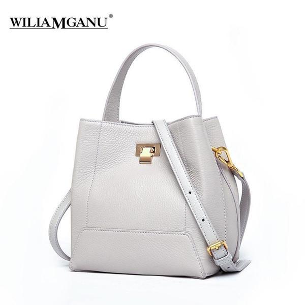 Nice Pop Real Genuine Leather Tassel Womens Handbag Lady Shoulder Tote Messenger Bag Purse Soft Satchel Black White Red