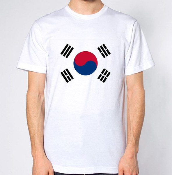 South Korea New T-Shirt Map Flag Top Country Gift Present City Holiday Tee colour jersey Print t shirt