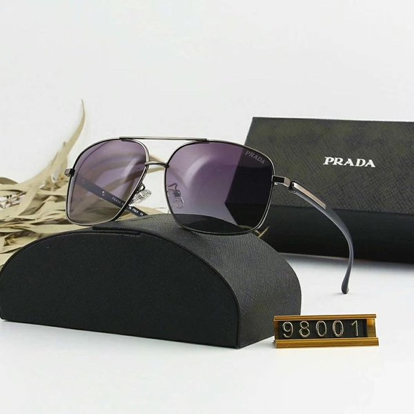 Designer Sunglasses Luxury Sunglasses Brand P98001 Sunglass Fashion for Man Adumbral Glass UV400 6 Style with Box new Arrive High quality