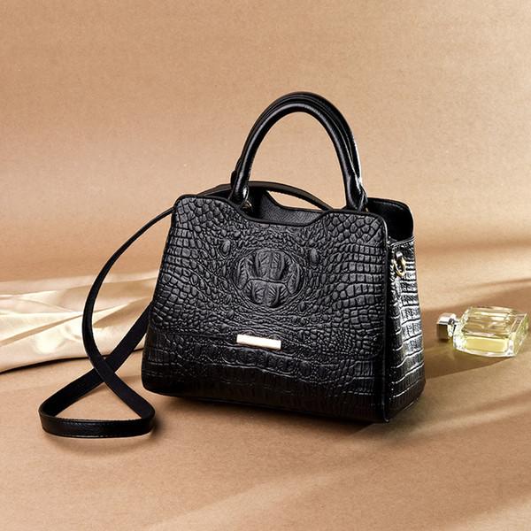 Damen Tasche 2019 neue europäische und amerikanische Krokodil-Druck-Dame-Handbag Große Tasche
