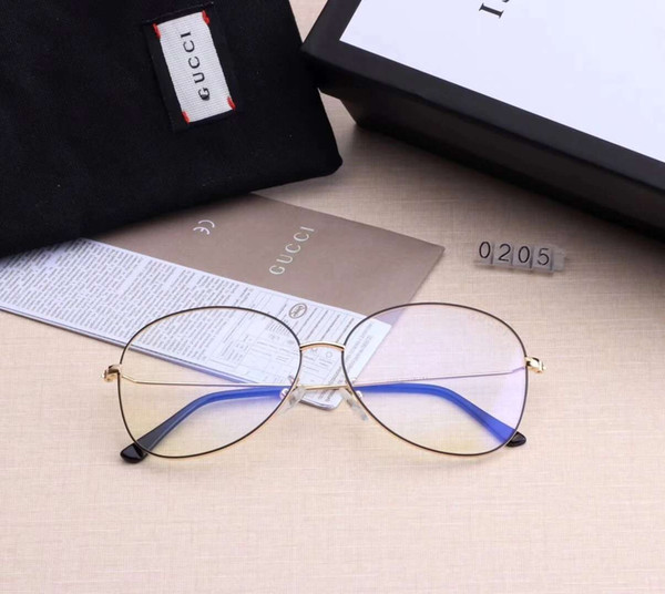 Designer Glasses Luxury Sunglasses Man Womens Designer Sunglasses Brand G0205 Myopic Glasses Anti-Blue Glasses 6colors High Quality with Box