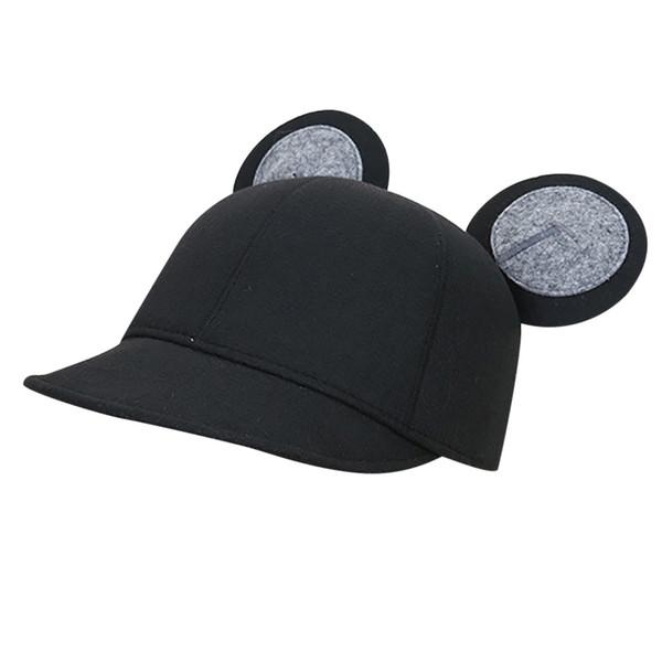 2019 New Bucket Hat Women's Warmer Wool Felt Outback Hat Cute Girls Cap Ear Design Chapeau Sombrero