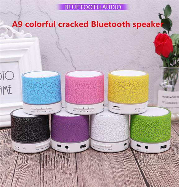 A9 Kablosuz Bluetooth Hoparlör LED TF USB Subwoofer Hoparlörler Taşınabilir Audio Player MP3 Stereo Ses Müzik Çalar fabrika satış