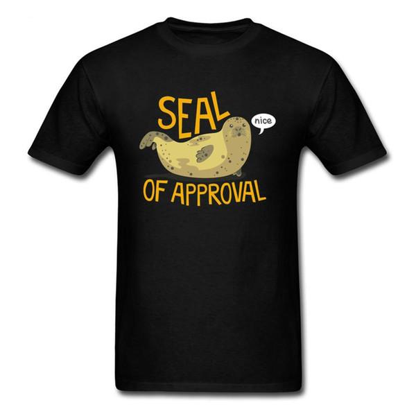 Seal of Approval Walrus Otter Funky Tshirt O-Neck Personalized Short Sleeve Men T Ee Custom Wholesale Streetwear