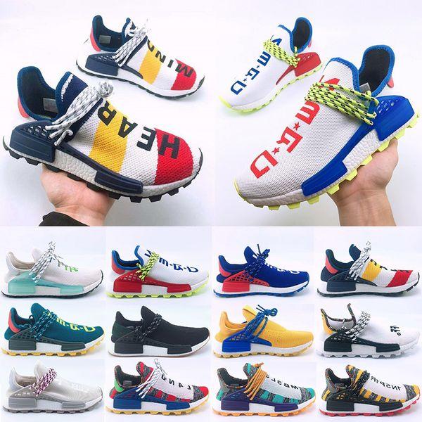 Hot Sale Human Race Hu trail Running shoes Men Women Pharrell Williams Yellow noble ink core Black Designer Sports Trainers Sneaker 36-47