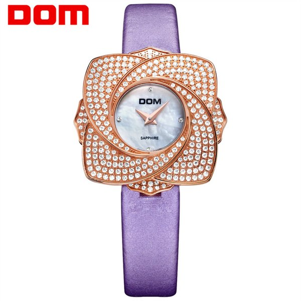 Flower Style Round Shap Quartz Watch 2019 Hot Sell Wristwatches for Girls Ladies Woman Mother Daughter Student Crystal Inlaid Gift Watches
