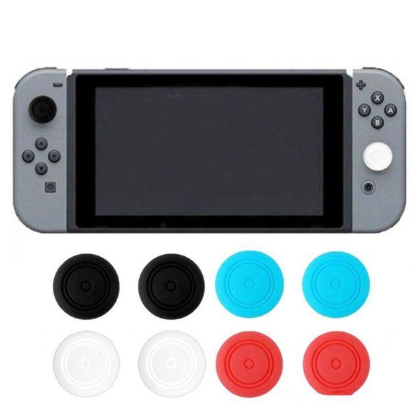 100 adet Silikon Başparmak Sopa Nintendo Anahtarı NS Sevinç için Caps Jel Muhafızları-Con Kontrol Joystick Sapları Oyun Aksesuarları