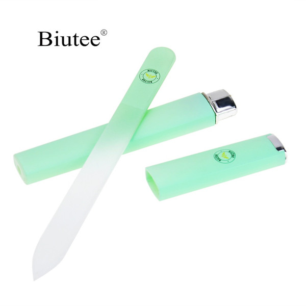 1 Pcs Crystal Glass File Professional Manicure Device Tool Durable Nail Art Buffer Files Green/Pink/Sliver 1 Pcs Crystal Glass Nail