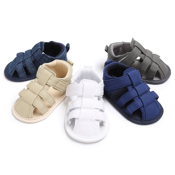 Hot Baby Summer Boys Fashion Canvas Jeans Sandals Sneakers Infant Shoes 0-18 Month Baby Sandals New
