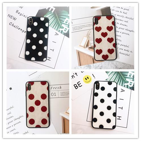 Luxury DESIGNER Glass Dots Phone Case for IPhone X XS MAX XR 8 7 Plus 6 6s Plus 7plus I Phone X Shell Cover Soft Silicon Bumper Couple