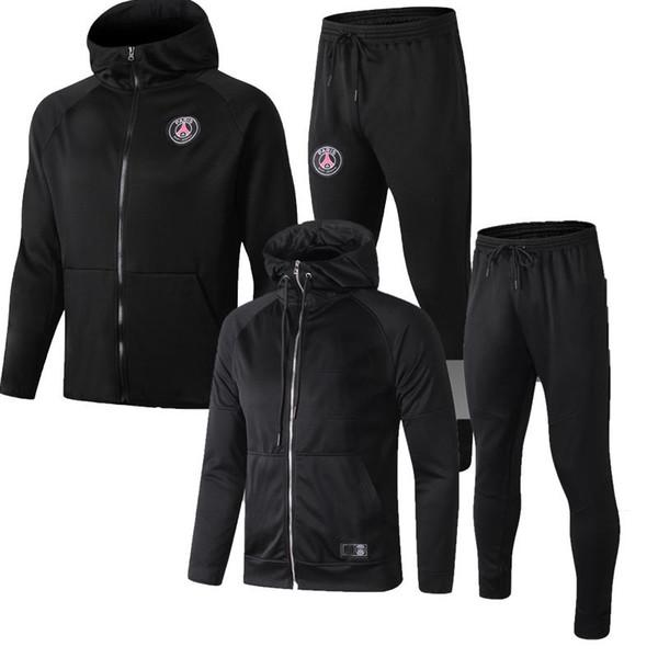 2019 Jacket Pants tracksuit 18 19 Top Thailand NEYMAR JR MBAPPE training suit Adult kit sets soccer hoodie football shirt uniform Paris