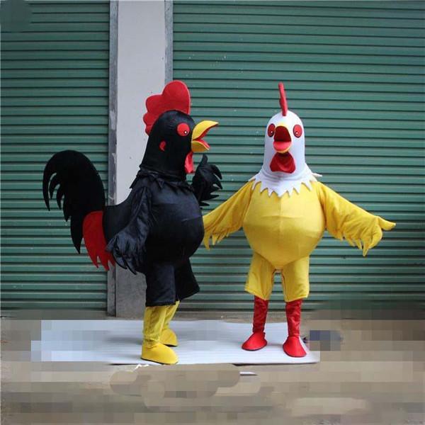 Gran polla puede caminar traje de mascota traje de personaje de dibujos animados traje para fiesta