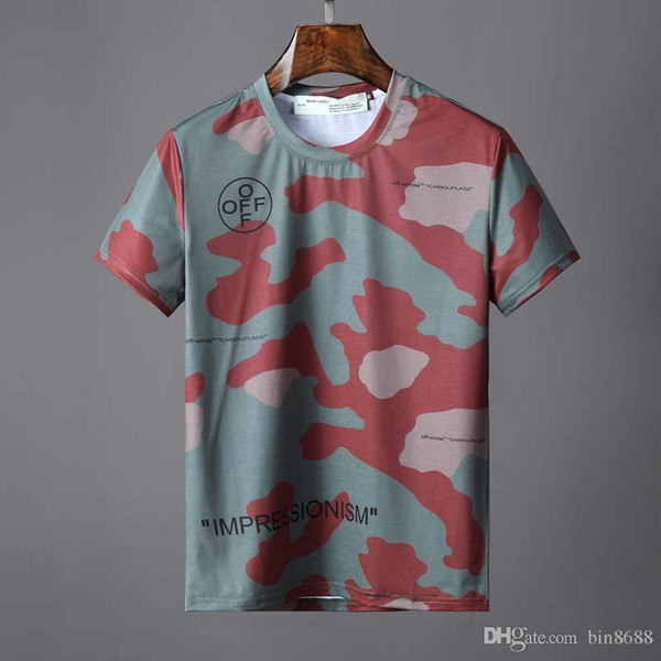 Europe and the United States purchasing new planet big size tide men's short T camouflage printed loose short-sleeved T-shirt Q1