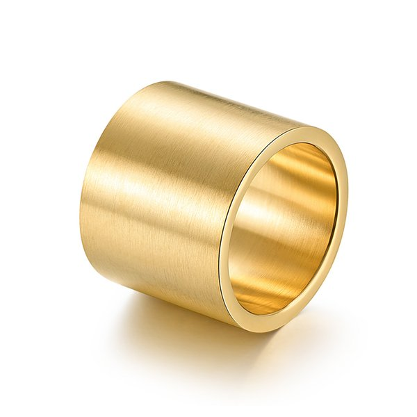 Lujoyce Aço Inoxidável Faceta Larga Adulto Anel de Prata Preto Anel de Ouro Masculino Jóias de Alta Qualidade