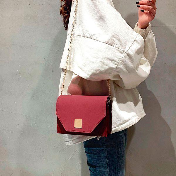 Messenger Bags 2019 New Fahsion Handbag Retro Messenger Bag Solid Color Handbag Shoulder Bag