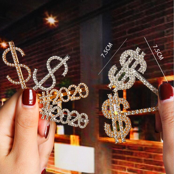 best selling Hair Clip Christmas Barrette Crystal Rhinestone Letter Hair Clips Girl Hairpin Diamond Words Barrettes Fashion Clip Woman Hair Accessories