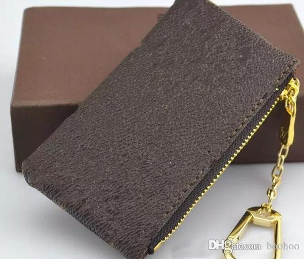 Hotsales Damen Key Wallet Key Pouch Bag Charm Frankreich Berühmte Mono Gram Leinwand Braun Weiß Karierter Schlüsselanhänger