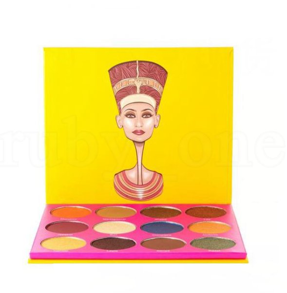 12 color Eye Makeup Palette Eyeshadow Palette powder Europe Eye Shadow Earth shadows Palette Collection gift LJJK1543