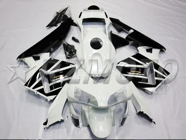 Qualité OEM Nouveaux ABS Carénages complets Kits pour Honda CBR600RR F5 2003 2004 03 04 600RR Carrosserie libérera personnalisée en noir et blanc