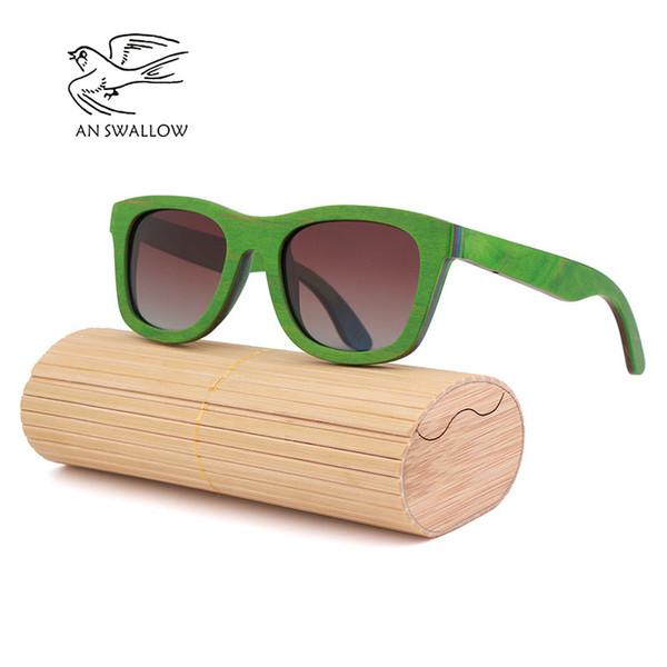 Classic fashion men's wooden sunglasses new wooden sandwich glasses polarized TAC lens UV400 bamboo sunglasses women