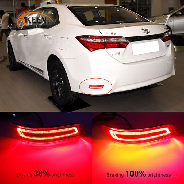 For Toyota Corolla 2014 to 2016 Multi-function Car LED Rear Fog Lamp Bumper Light Brake Light Turn Signal Light Reflector