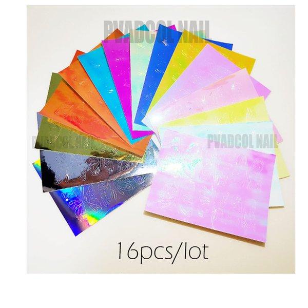 16pcs holo stickers