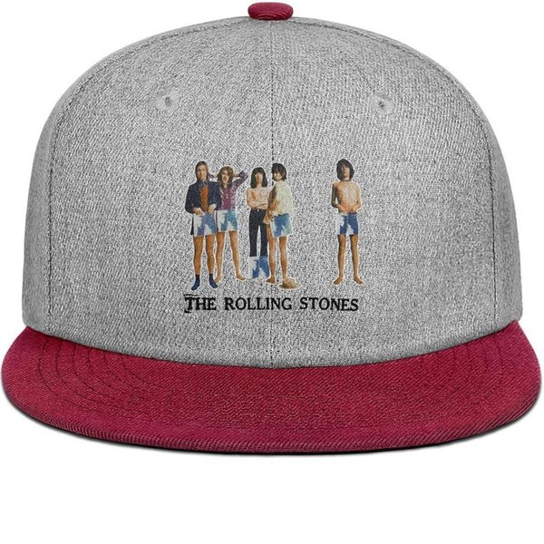 Rolling Stones Sticky Fingers Photo for men and women flat brim hats burgundy snapback cool kids hats custom kids design your own custom yo