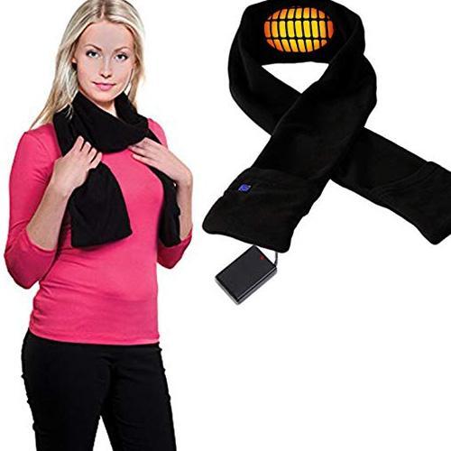 Châle électrique chauffant écharpe de chauffage mobile hiver réchauffement de cou cou ski main écharpes Portable USB alimenté doux Ourdoor voiture intérieure